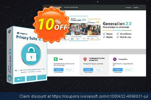Get 10% OFF Steganos Privacy Suite 18 (PT) offering sales