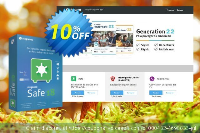 Steganos Safe 18 (ES) discount 10% OFF, 2020 Exclusive Student discount deals