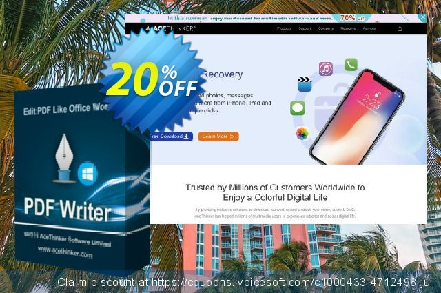 Acethinker PDF Writer (Academic) discount 20% OFF, 2020 College Student deals offer