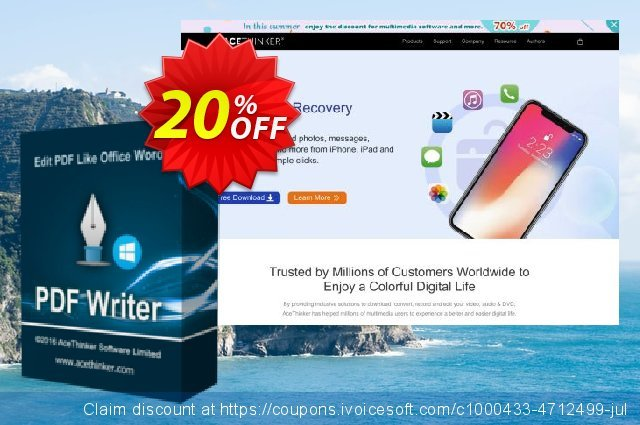 Acethinker PDF Writer lifetime (Academic) discount 20% OFF, 2020 Halloween offering discount