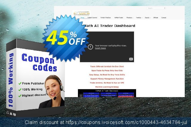 FxMath Mom Trader EA Package discount 45% OFF, 2021 Working Day offering sales. FxMath_Mom_Trader_EA Package amazing promotions code 2021