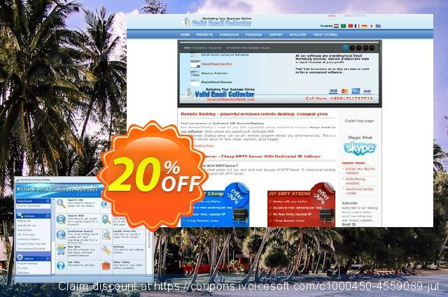 Valid Email Collector Advance discount 20% OFF, 2020 University Student offer offering deals