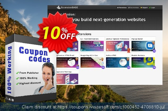 Joomla Pop Up - Standard discount 10% OFF, 2020 Year-End discount