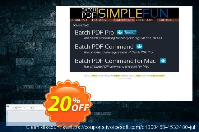 Batch PDF Pro discount 20% OFF, 2020 Back-to-School promotions offer