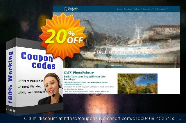 GMX-PhotoPainter for Mac discount 20% OFF, 2019 Christmas offering sales