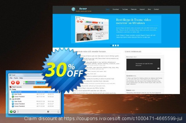 Evaer video recorder for Skype (Professional) discount 30% OFF, 2020 Exclusive Teacher discount offering sales