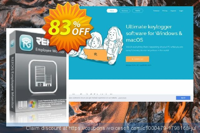 REFOG Employee Monitor - 25 Licenses discount 83% OFF, 2020 Xmas offering sales