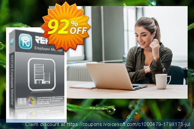 Get 92% OFF REFOG Employee Monitor - 100 Licenses offering sales