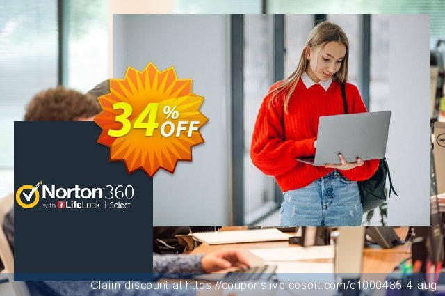 Norton 360 with LifeLock Select discount 34% OFF, 2020 Halloween offering sales