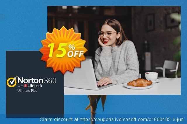 Norton 360 with LifeLock Ultimate Plus discount 15% OFF, 2020 Back-to-School promotions offering sales
