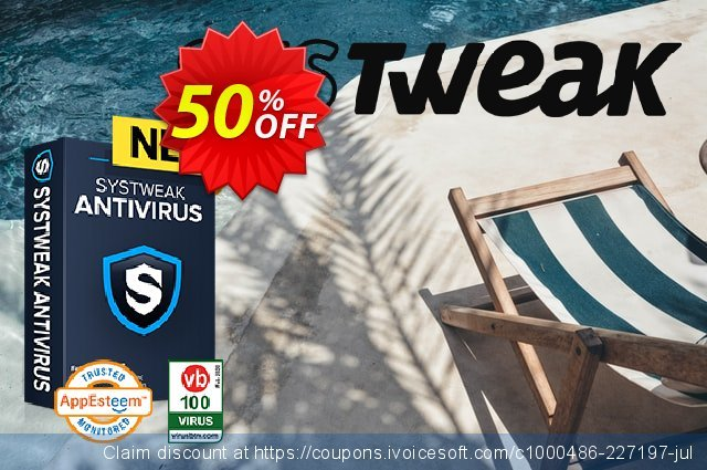 Systweak Antivirus Multi-Device discount 50% OFF, 2021 New Year's Day promo