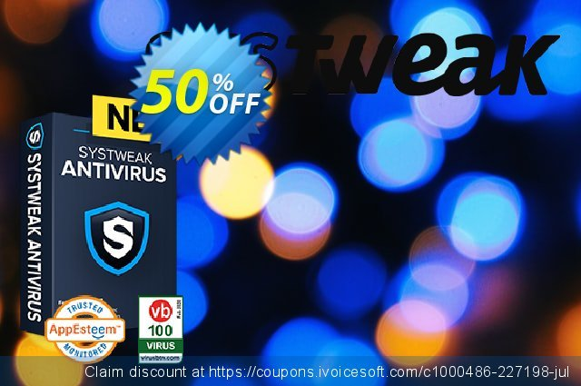 Systweak Antivirus Family discount 50% OFF, 2021 Happy New Year offering sales
