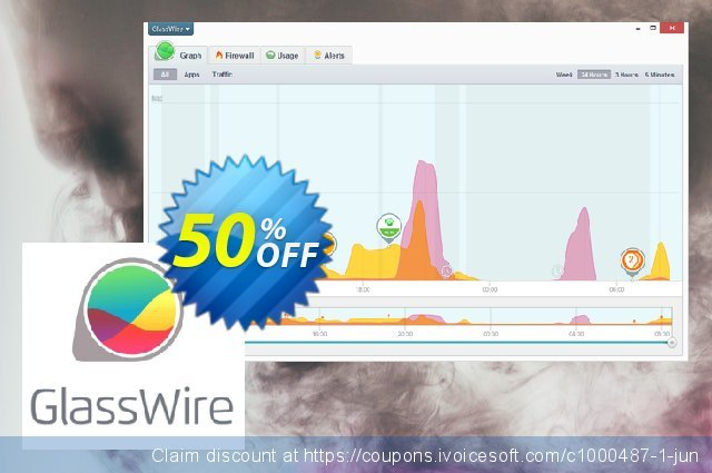 GlassWire discount 50% OFF, 2021 New Year's Day offer