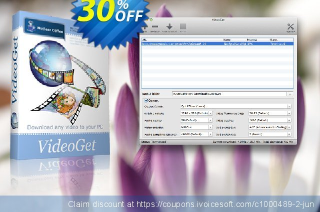 VideoGet for Mac discount 30% OFF, 2020 College Student deals offering sales