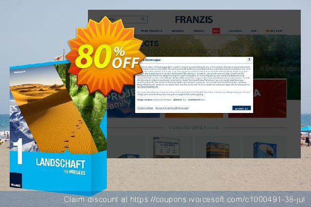 Franzis HDR Preset Collection #1 discount 20% OFF, 2020 Back to School promo promo