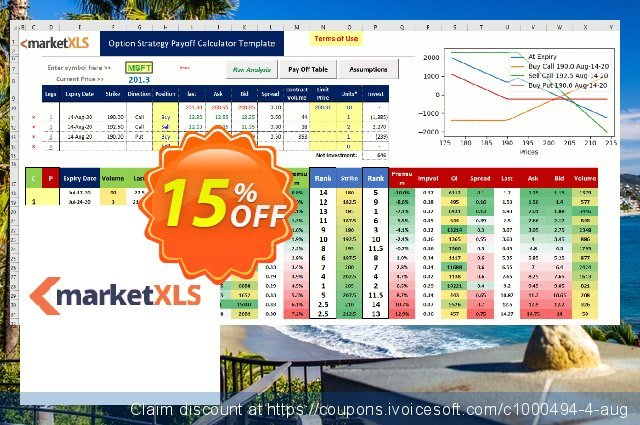 MarketXLS Cloud Annual Billing discount 15% OFF, 2021 Happy New Year promotions