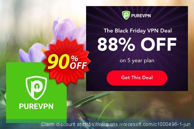 PureVPN discount 90% OFF, 2021 New Year offering sales