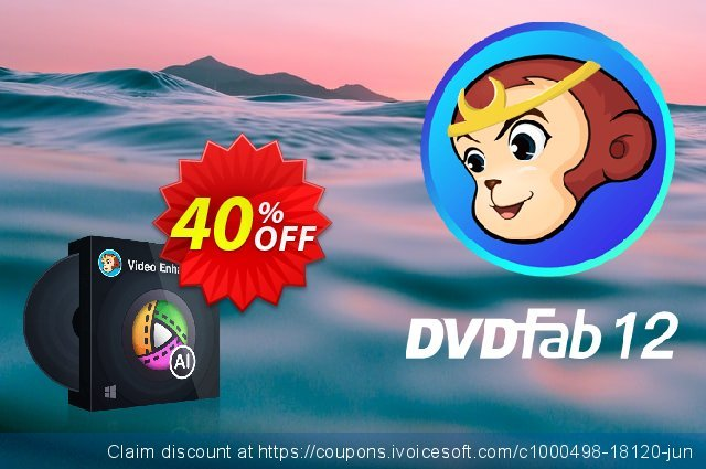 DVDFab Enlarger AI for MAC (1 month License) discount 50% OFF, 2021 April Fools' Day discount