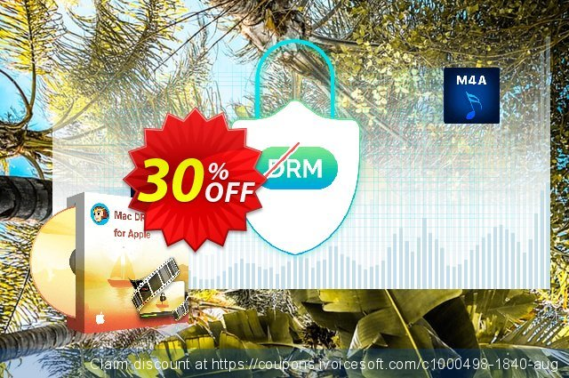 DVDFab Mac DRM Removal for Apple discount 30% OFF, 2021 Fourth of July offering sales. 30% OFF DVDFab Mac DRM Removal for Apple, verified