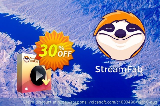 StreamFab U-NEXT Downloader for MAC Lifetime discount 30% OFF, 2021 Immigrants Day offering sales. 30% OFF StreamFab U-NEXT Downloader for MAC Lifetime, verified