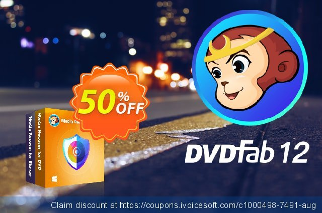 DVDFab Media Recover for DVD & Blu-ray Lifetime License discount 50% OFF, 2021 Parents' Day offering sales. 50% OFF DVDFab Media Recover for DVD & Blu-ray Lifetime License, verified