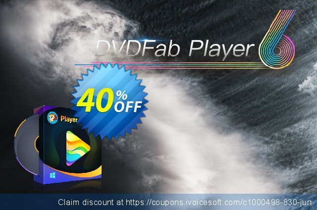 DVDFab Player 6 Ultra discount 30% OFF, 2021 Resurrection Sunday offering sales