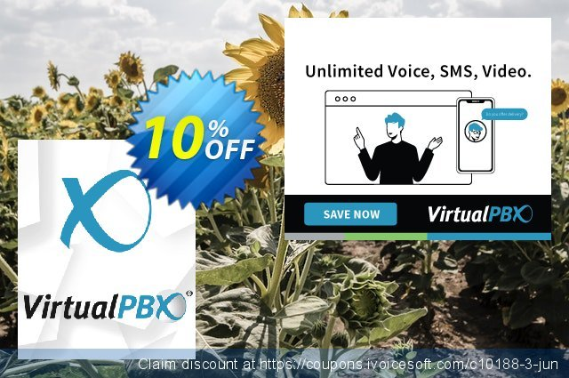 VirtualPBX Enterprise (Unlimited Minutes) discount 10% OFF, 2021 National Singles Day offering sales. 10% OFF VirtualPBX Enterprise (Unlimited Minutes), verified