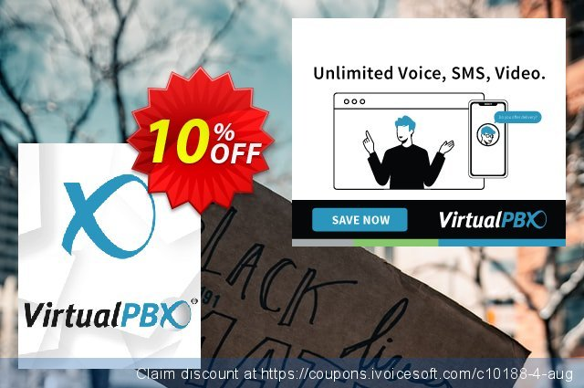 VirtualPBX Flex (Unlimited Minutes) discount 10% OFF, 2021 National Family Day offering sales. 10% OFF VirtualPBX Flex (Unlimited Minutes), verified