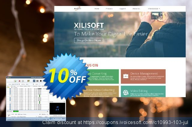Xilisoft DVD to Audio Converter for Mac discount 10% OFF, 2021 Daylight Saving promo