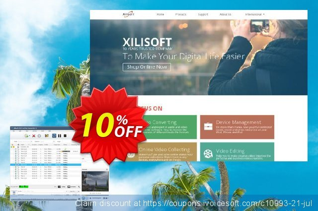 Xilisoft DVD to iPod Converter discount 10% OFF, 2021 New Year's Weekend promotions