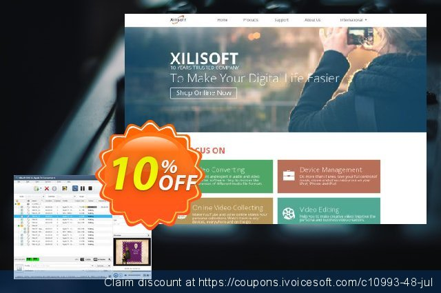 Xilisoft DVD to Apple TV Converter  특별한   세일  스크린 샷