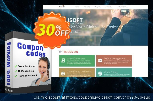 Xilisoft iPod Rip discount 30% OFF, 2021 Working Day sales. Coupon for 5300