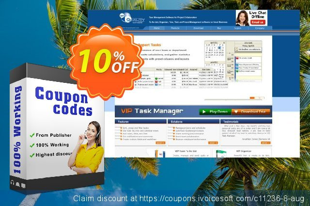 VIP Task Manager Pro (Client/Server) discount 10% OFF, 2019 Thanksgiving Day offering sales