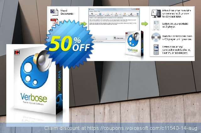Get 15% OFF Verbose Text to Speech Software promotions