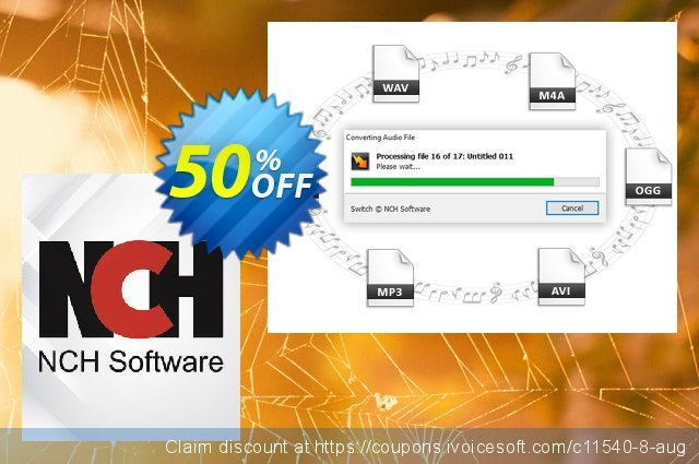 Switch Plus Audio File Converter discount 15% OFF, 2020 Back to School promotion promo