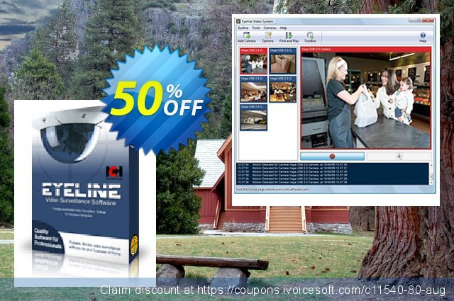 Eyeline Video Surveillance Software - Small Business discount 15% OFF, 2020 University Student offer promo