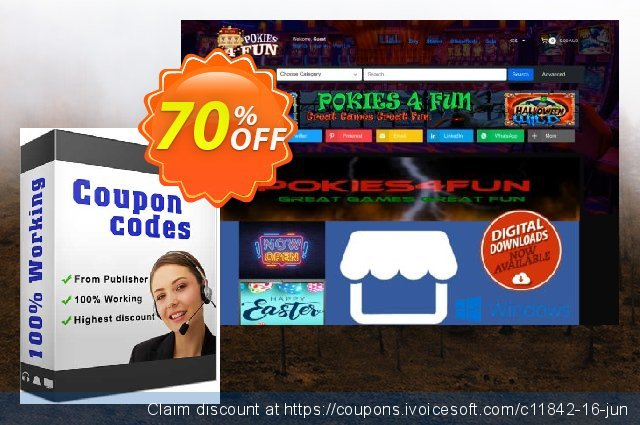 Pokies4fun: Carnival Cash discount 70% OFF, 2019 Thanksgiving offering sales