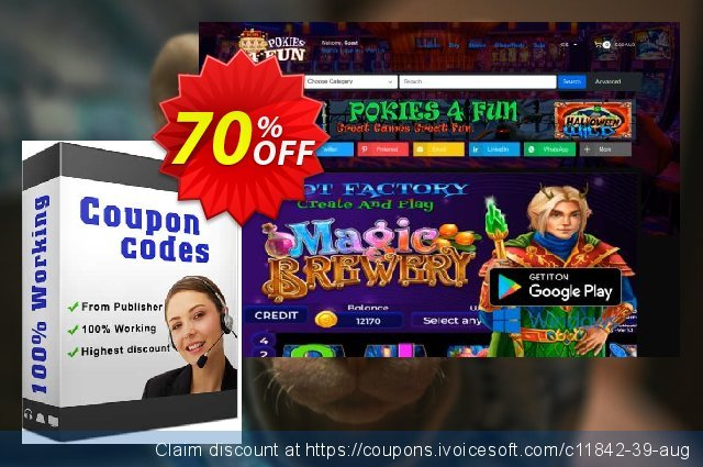 Pokies4fun: Aussie Slots discount 70% OFF, 2020 July 4th offering sales