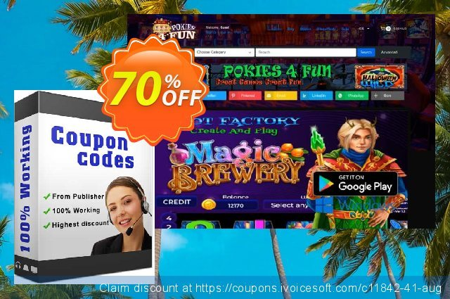 Pokies4fun: Irish Gold discount 70% OFF, 2019 Thanksgiving Day promotions