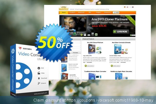 Any Video Converter Ultimate discount 50% OFF, 2021 Resurrection Sunday promo sales