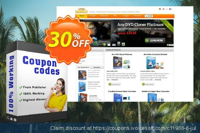 Any DVD Cloner Platinum discount 30% OFF, 2020 Christmas offering deals