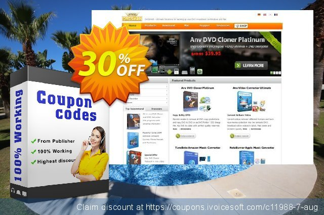 Any DVD Cloner Platinum for Mac discount 30% OFF, 2019 Back to School coupons offering discount