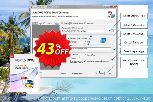 AutoDWG PDF to DWG Converter discount 43% OFF, 2019 Thanksgiving offer