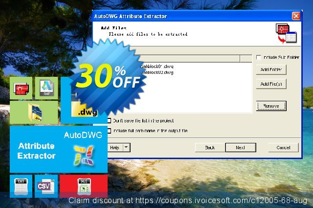 AutoDWG Atttribute Extractor Server discount 30% OFF, 2021 Working Day promotions. 25% AutoDWG (12005)