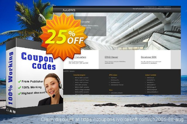 AutoDWG DWG to SVG discount 25% OFF, 2020 Back to School shopping discount