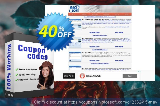 Any Video/Audio Converter discount 40% OFF, 2020 College Student deals promo sales