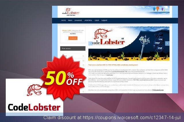 CodeLobster PHP Edition Lite discount 50% OFF, 2019 Back to School offer offering sales