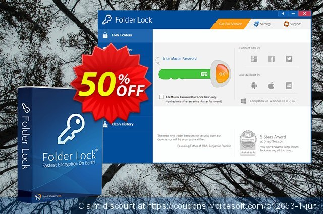 Folder Lock discount 25% OFF, 2019 Happy New Year promo