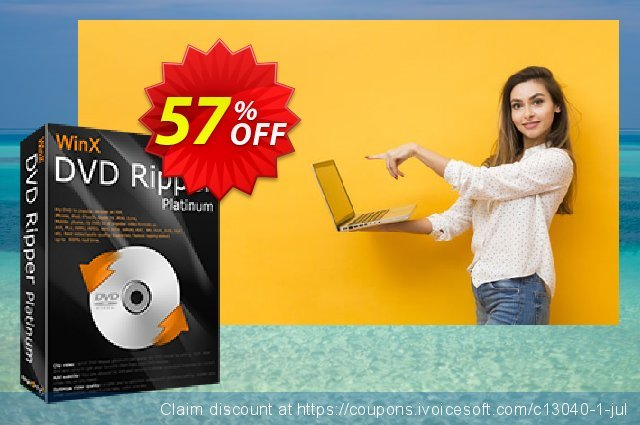 [51% OFF] WinX DVD Ripper Platinum Coupon code on Back to School promotion  offering sales, September 2019