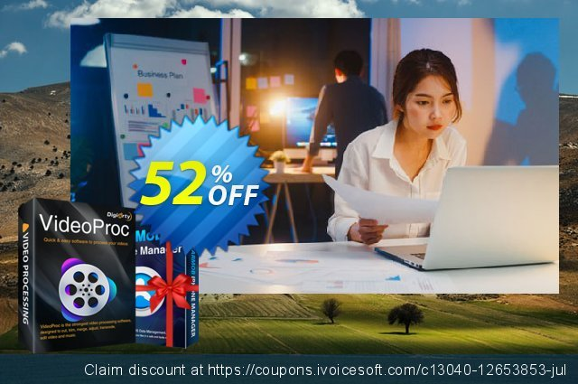 VideoProc (Family License for 2-5 PCs) discount 52% OFF, 2021 Mother's Day offering sales. 52% OFF VideoProc (Family License), verified
